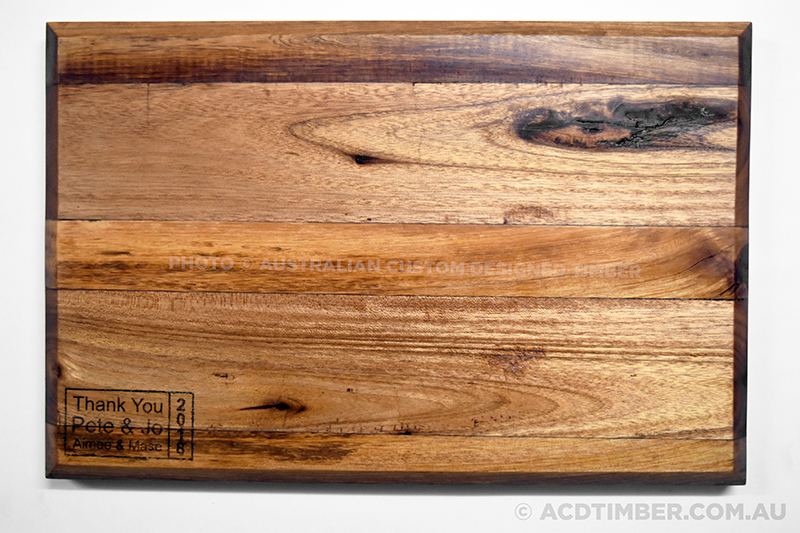 Image of the personalised Chopping Board top down view