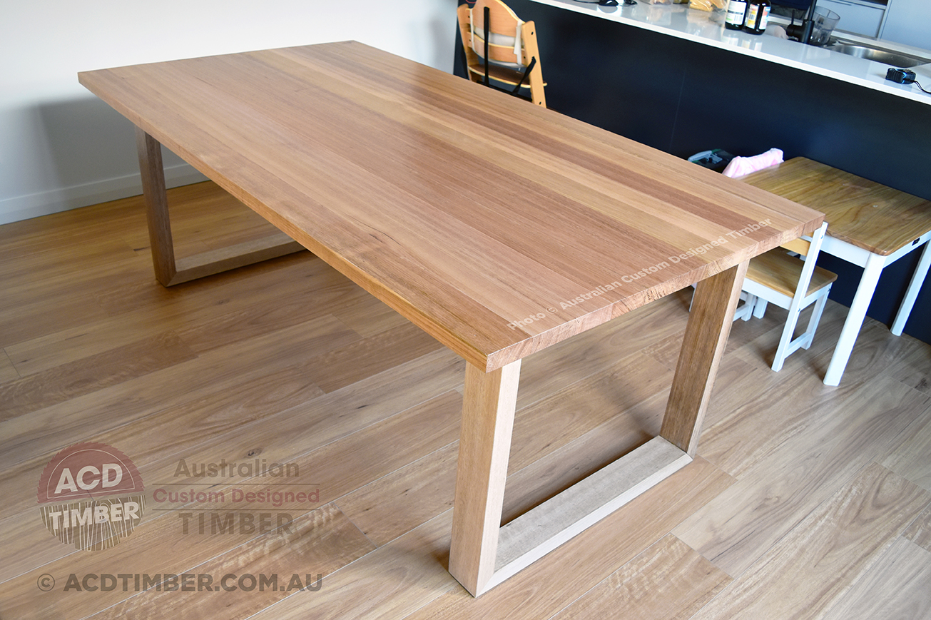 Tasmanian Oak Dining Table with Tasmanian Oak legs. Bring your ideas and concepts, we'll work with you